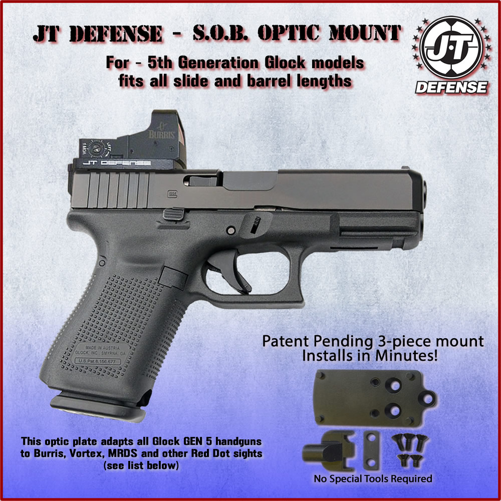 Red Dot Sight Mount | Gen 5 Glock - Vortex - Burris | JT Defense