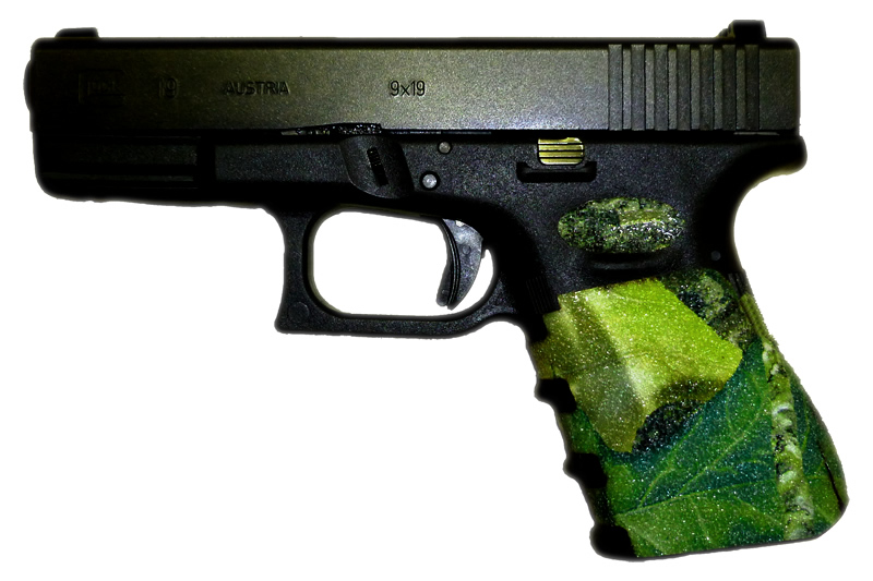 Camo Glock 19 Grips - Decal