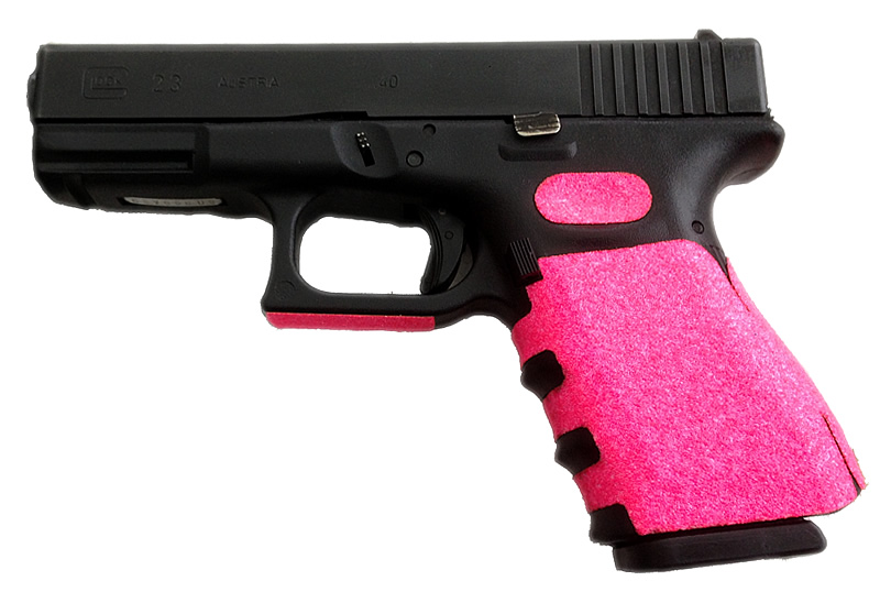 Pink Glock 19 Grips - Sticker - Skateboard tape