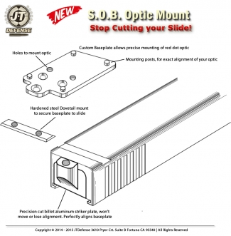 Red Dot Sight Mount - Install diagram