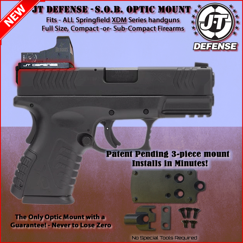 Springfield XDM - Red Dot Sight Mount | Optic | JT Defense