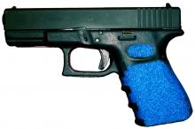 Glock 23 Decal Grips - Blue Glock 19